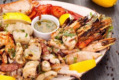 Вкусные и полезные блюда из морепродуктов