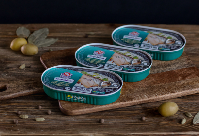 Сардина атлантическая филе натуральная с добавлением масла