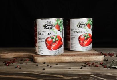 Очищенные томаты в собственном соку Delphi