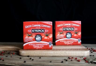 Сок томатный слабо концентрированный Kyknos